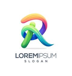 awesome letter r logo design vector image
