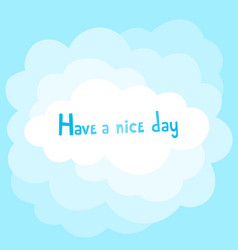 background with cartoon cloud and hand vector image