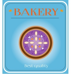 Bakery with plum cake vector image