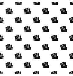 big lunchbox pattern seamless vector image