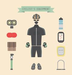 bikeequipment vector image