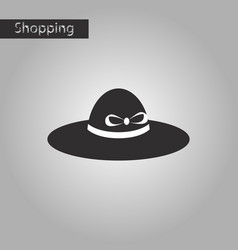 Black and white style icon women hat vector