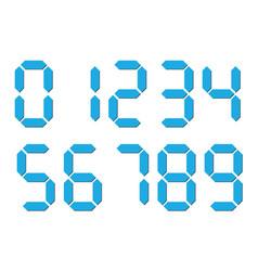 Blue 3d-like digital numbers seven-segment vector