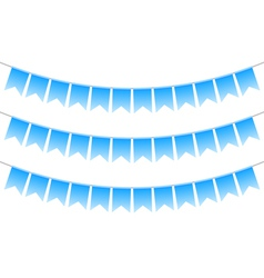 blue bunting vector image