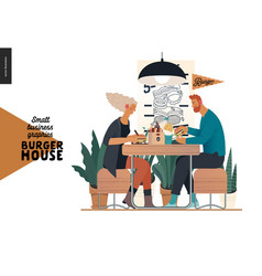 Burger house - small business graphics - visitors vector