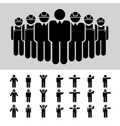 Business man Architect engineer worker icon se vector