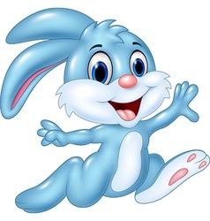 Cartoon happy bunny running isolated vector