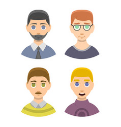 Caucasian emotion male head stressed character vector