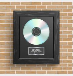 Cd disc award best seller modern ceremony vector