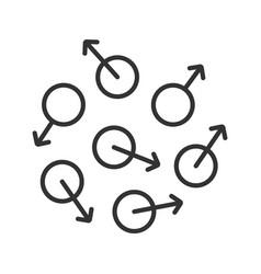Chaos linear icon vector