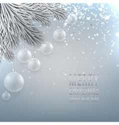 Christmas background with glass ball vector