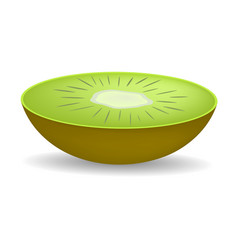 cut of fresh kiwi mockup realistic style vector image
