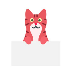 cute red cat icon flat style vector image