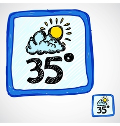 Doodle style weather icon vector image