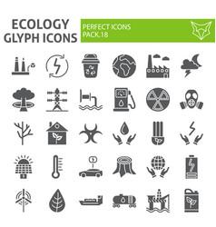 Ecology glyph icon set eco symbols collection vector