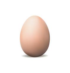 egg mockup isolated on white background vector image