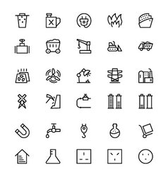 Energy Line Icons 5 vector