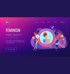feminism concept vector image