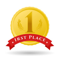 first place vector image