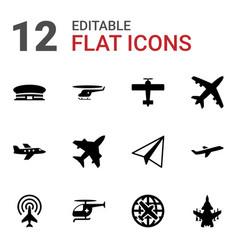 Flight icons vector