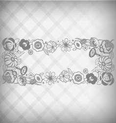 floral nameplate vector image vector image