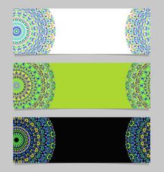 Flower mandala banner set - colorful graphic vector