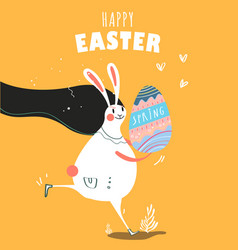 happy easter day card design vector image