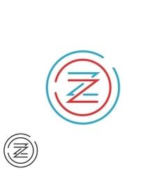 Hipster letter Z logo monogram creative circles vector