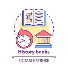 History books concept icon ancient times idea vector