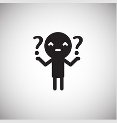 Icon flat design human questions vector