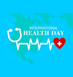 international health day logo vector image
