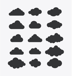 Isolated design clouds icon set vector