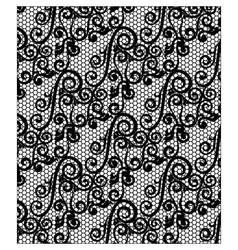 Lace ornament texture pattern vector image