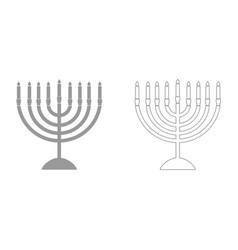 menorah for hanukkah it is icon vector image