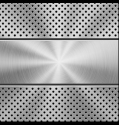 metal background with perforated pattern vector image
