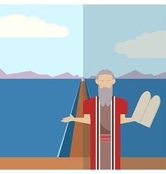 Moses and sea icon 2 vector