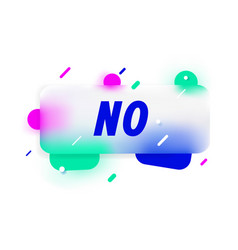 No in design banner template for web vector