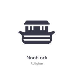 Noah ark icon isolated noah ark icon from vector
