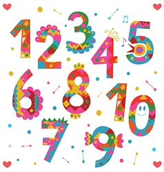 Numbers design vector
