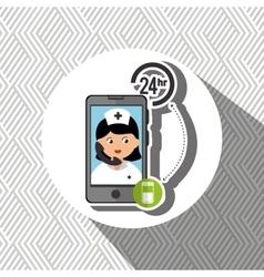 Nurse 24-hour health pharmacy isolated icon design vector