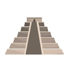 Pyramid structure icon vector