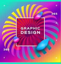 rainbow background gradient fluid shapes vector image