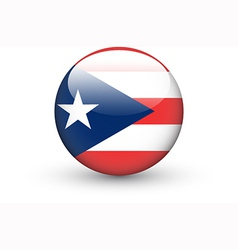 Round icon with flag of Puerto Rico vector
