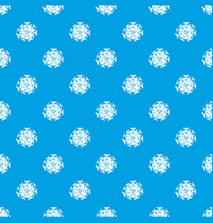 round viral bacteria pattern seamless blue vector image
