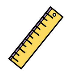 Ruler design to school tool education vector