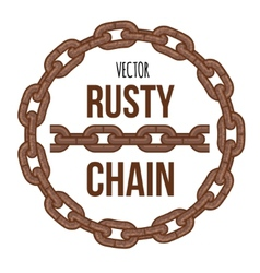 rusty chain ring emblem logo vector image