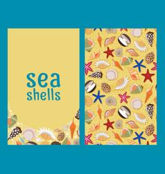 sea shells flyers or brochures vector image
