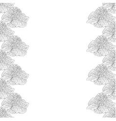 seamless pattern flower ink sketch vector image