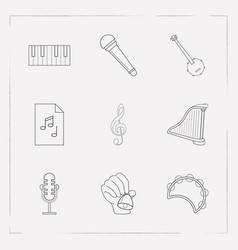 Set of melody icons line style symbols with music vector
