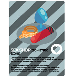 sex shop color isometric poster vector image